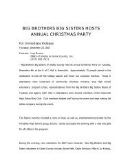 company name - Big Brothers Big Sisters of Shelby and Darke County