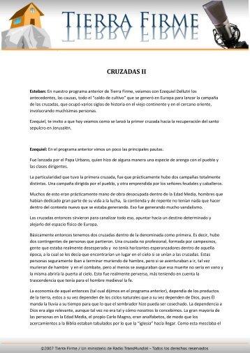 CRUZADAS II - Tierra Firme
