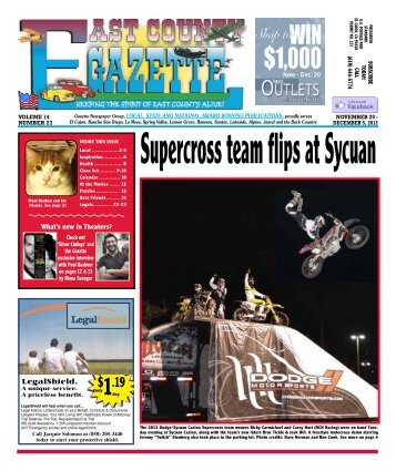 November 29 - East County Gazette