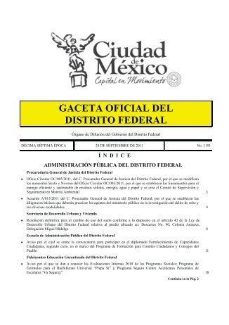 004/11 - Gobierno del Distrito Federal