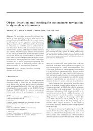 Object detection and tracking for autonomous navigation in dynamic ...