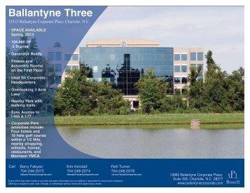 Ballantyne Three Flyer - Ballantyne Corporate Park