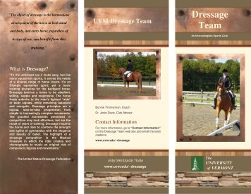 UVM Dressage Team - University of Vermont