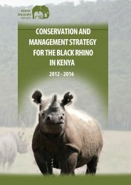 conservation and management strategy for the black rhino in kenya