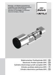Elektronischer Profilzylinder EPC Electronic Profile Cylinder EPC ...