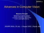 Advances in Computer Vision - University of Technology, Sydney