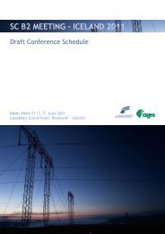 SC B2 MEETING - ICELAND 2011 - Technical Advisory Group B2