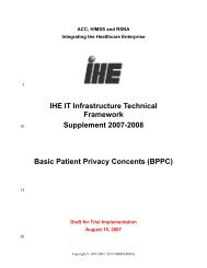 IHE IT Infrastructure Technical Framework Supplement 2007-2008 ...