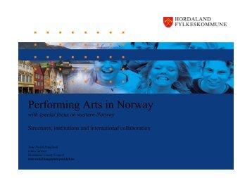 Performing Arts in Norway - ODIA Normandie