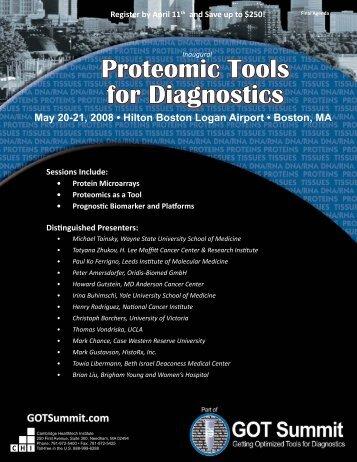 Proteomic Tools for Diagnostics - Cambridge Healthtech Institute