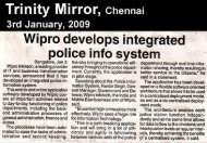 Wipro develops Integrated Police Info System