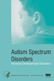 Autism Spectrum Disorders: Pervasive ... - New Avenues