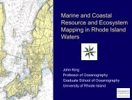 Marine and Coastal Resource and Ecosystem Mapping in Rhode ...