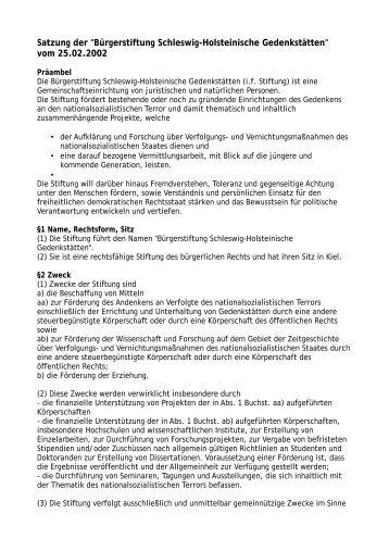 Komplette Satzung zum Download als PDF - Gedenkstätten ...