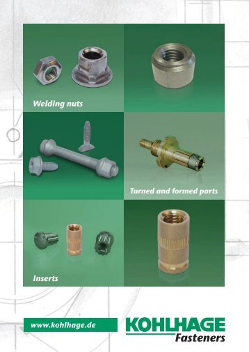 Inserts Welding nuts - KOHLHAGE Fasteners