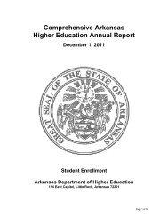 Annual Enrollment Report - Arkansas Department of Higher Education