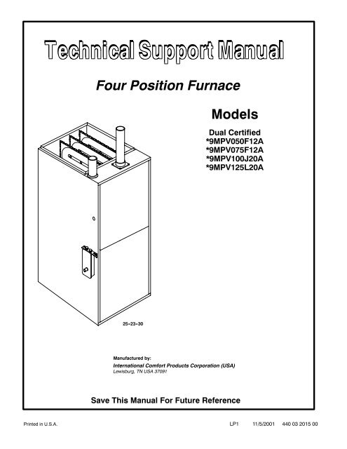 international comfort products furnace manuals