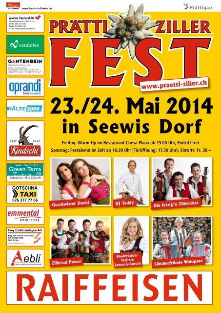 Prätti-Ziller Fest Broschüre 2014
