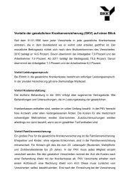 Vorteile der gesetzlichen Krankenversicherung (GKV) - BKK in Bayern