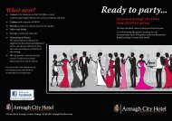Formals Brochure - Armagh City Hotel