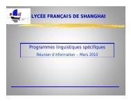 en anglais - Lycée français de Shanghai