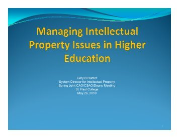 Understanding and Managing Intellectual Property Issues within ...