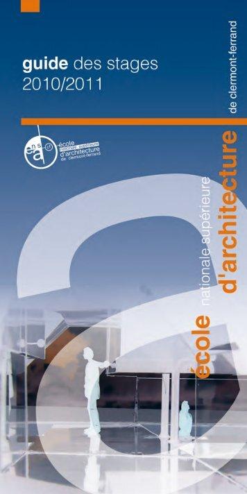 guide des stages - Ecole Nationale Supérieure d'Architecture de ...