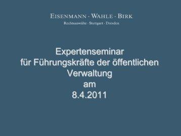 II. Örtliche Aufwandsteuer - Eisenmann Wahle Birk . Rechtsanwälte ...