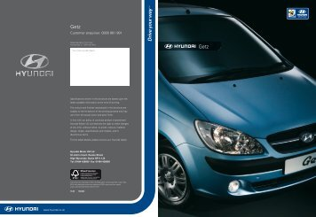 Download Getz Brochure - John Mulholland Motor Group