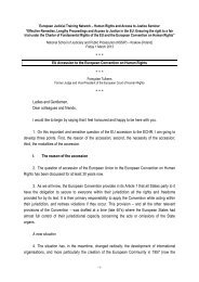 EU Accession to the European Convention on Human Rights - EJTN
