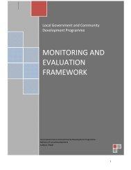 LGCDP M&E Framework