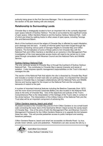 Management Plan - Chowder Bay, Part 2 (PDF - 1.26 MB) - Sydney ...