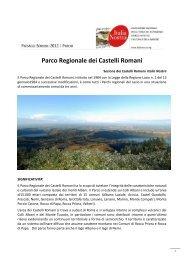 Parco Regionale dei Castelli Romani - Italia Nostra
