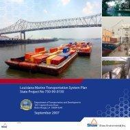 Marine Transportation System Plan (2007) - Louisiana