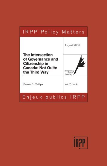 The Intersection of Governance and Citizenship in Canada Not ...