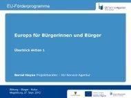 EUROPA FÜR BÜRGERINNEN UND BÜRGER - EU Service-Agentur