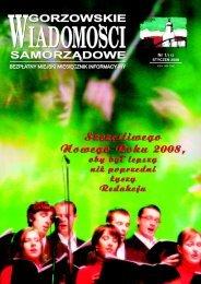 GWS NR 01 / 2008 - Gorzów