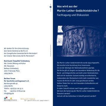 Was wird aus der Martin-Luther-Gedächtniskirche - Evangelische ...