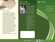 Framework for Hospital Chaplaincy - Ascension Health