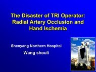 The Disaster of TRI Operator: Radial Artery Occlusion and Hand ...