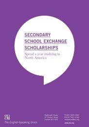 SSE leaflet - The English-Speaking Union