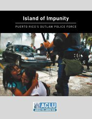 Island of Impunity - American Civil Liberties Union
