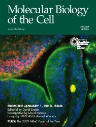 FROM THE JANUARY 1, 2010, ISSUE - American Society for Cell ...