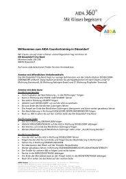 Willkommen zum AIDA Countertraining in Düsseldorf - AIDA Cruises