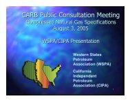 CARB Public Consultation Meeting - California Independent ...