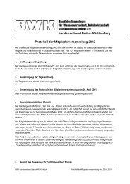 Protokoll der Mitgliederversammlung 2002 - BWK Landesverband ...