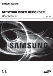 NETWORK VIDEO RECORDER - Samsung