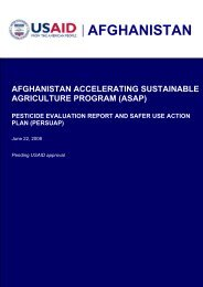Afghanistan Accelerating Sustainable Agriculture Program (ASAP)