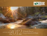 2012 Annual Report - Five Valleys Land Trust