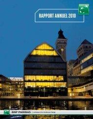 Rapport annuel 2010 BNP PARIBAS